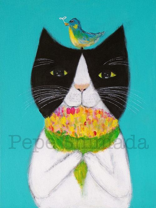 Cat of Bouquet