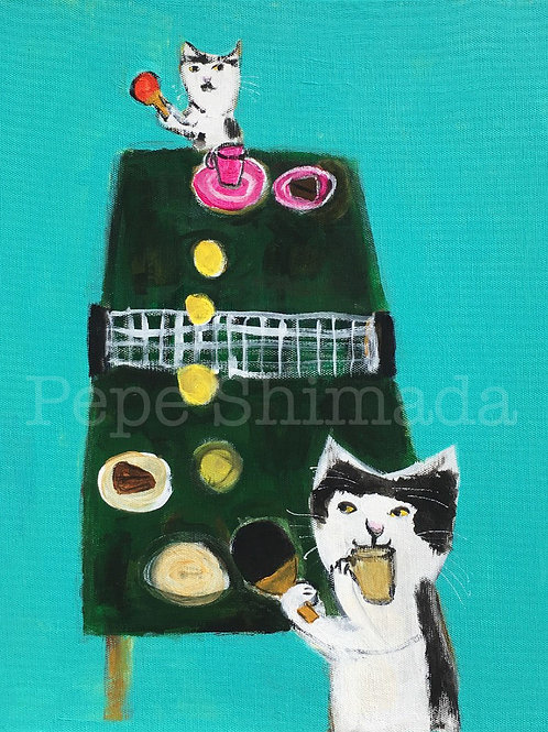 tea time table tennis Cats