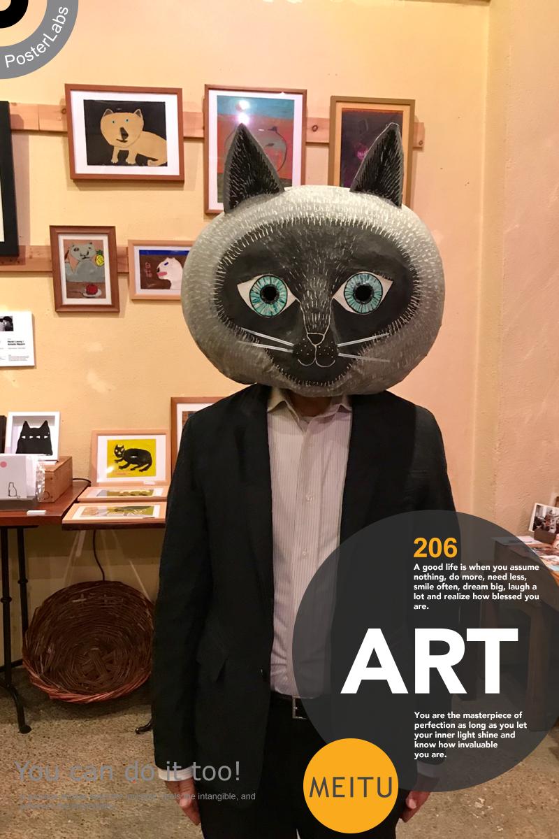 画家、猫る