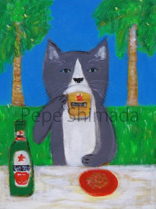 Rice terrace Beer Cat