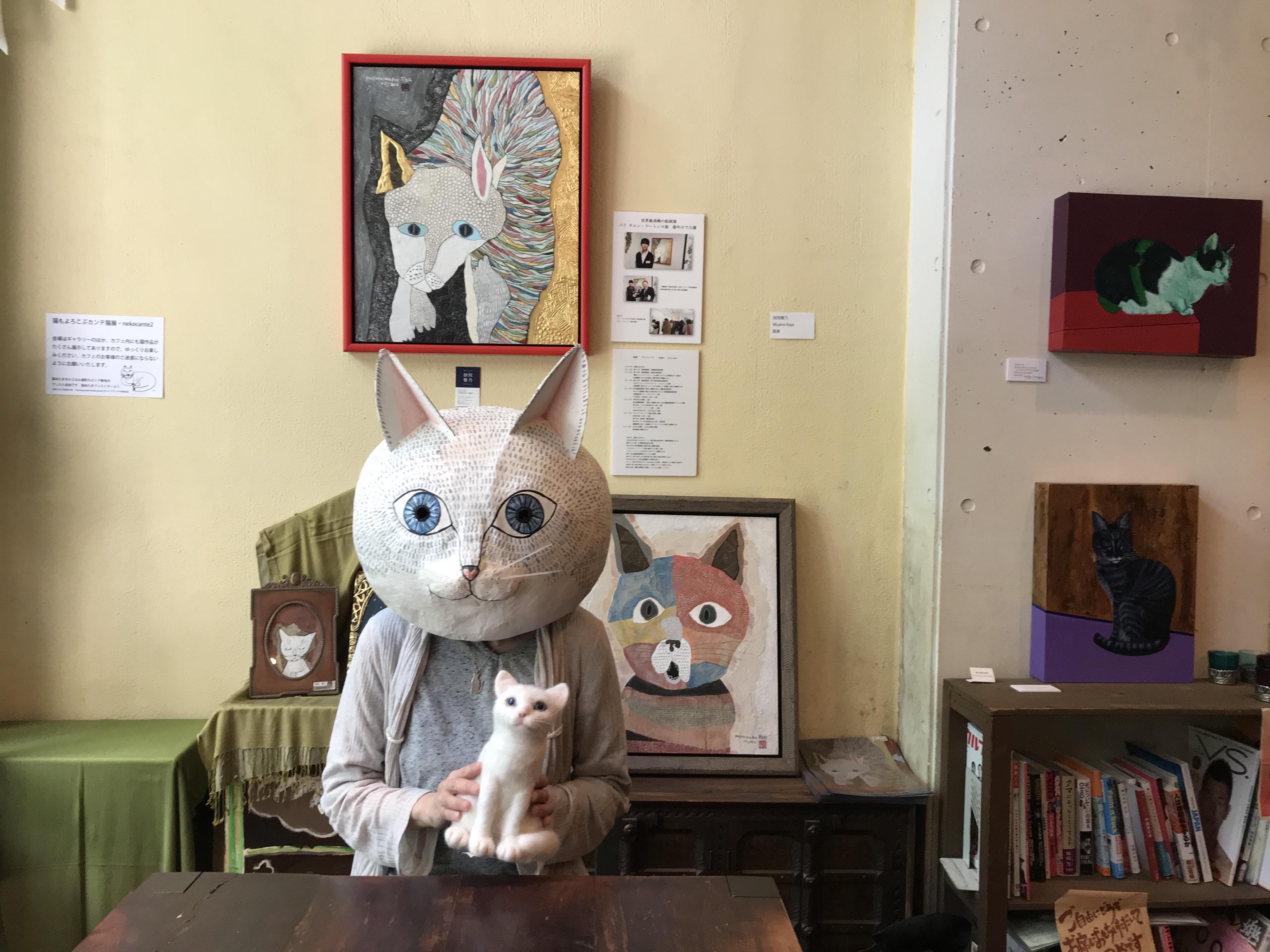 フェルト作家猫
