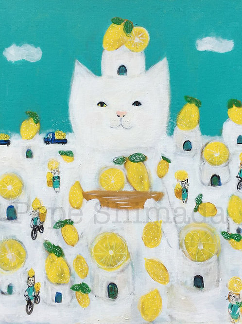 White Cat Lemon Village