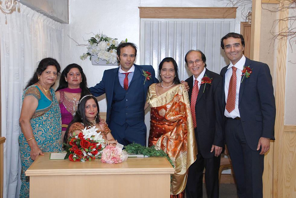 Family wedding indoors asian wedding photography Lancashire