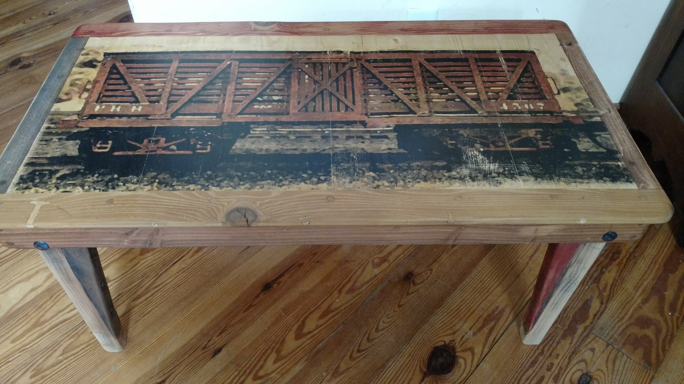 Cattle Car Coffee Table. Free Shipping in the lower 48.