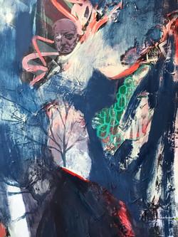 'Away Days', Acrylic on Canvas, £800