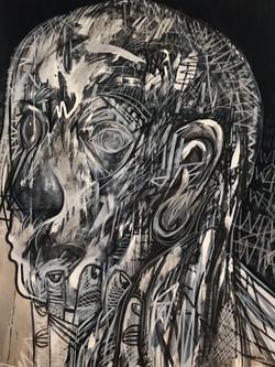 'Nail Biter', 120cm x 150cm, Acrylic on Canvas, £3000