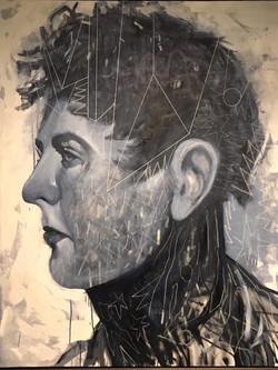 'WESTERN' 120cm x 150cm, Acrylic on Canvas, £3000