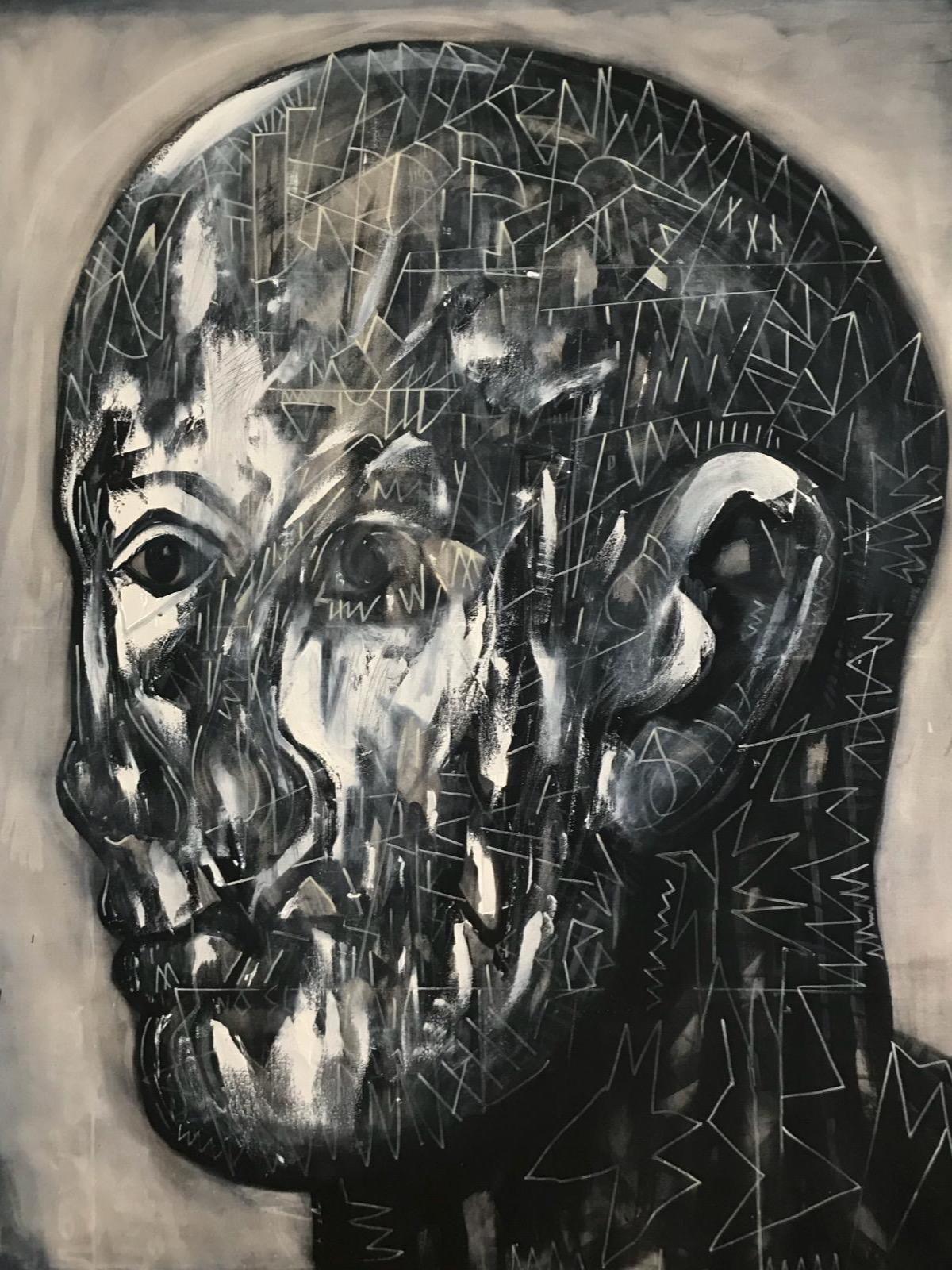 'Big Man', 120cm x 150cm, Acrylic on Canvas, £3000