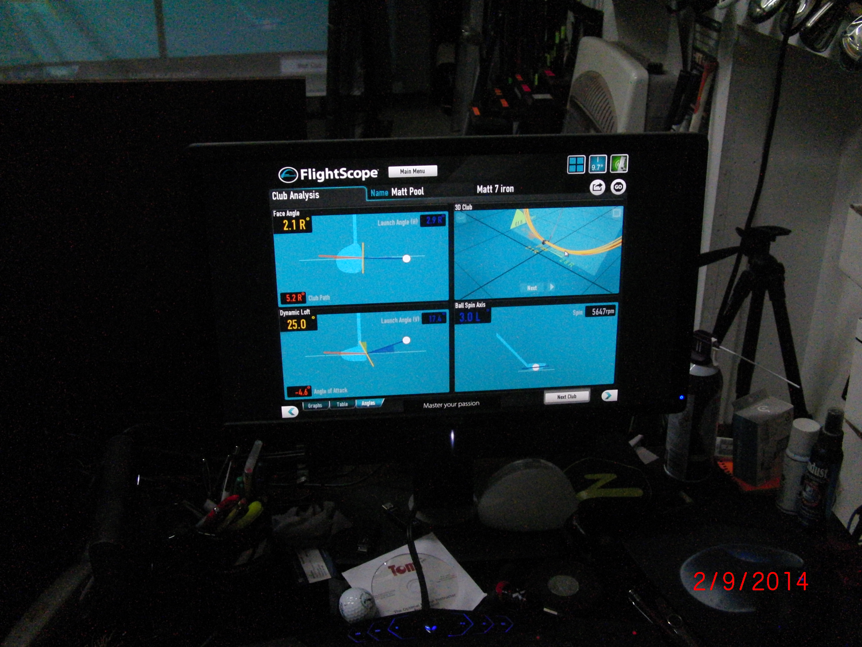 Flightscope Screen