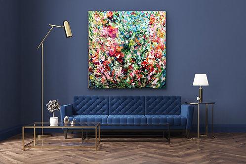 Wenn meine Seele singt |  Acryl, Öl auf Leinwand | 150 x 150 cm