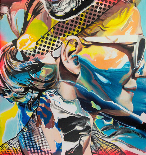 Seaside girl |  Acryl auf Leinwand | 90 x 85 cm