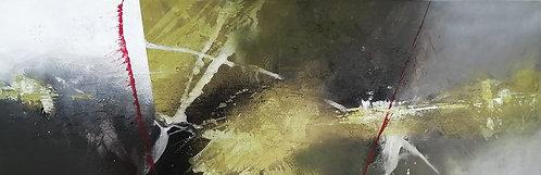 Ordinary love   Acryl, mixed media on canvas   120 x 40 cm