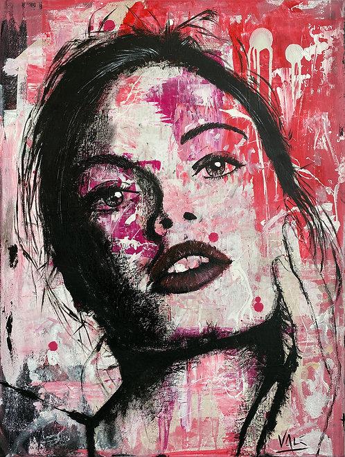 THE GIRL NEXT DOOR | Mixed Media on canvas | 80 x 60 cm
