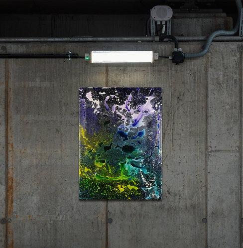 "Frozen Room   ""electronic music painting"" auf Leinwand   60 x 80 cm"