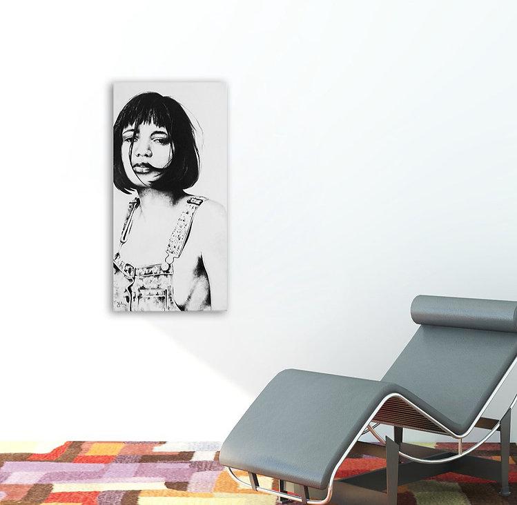 Ava | Öl auf Leinwand | 100 x 50 cm
