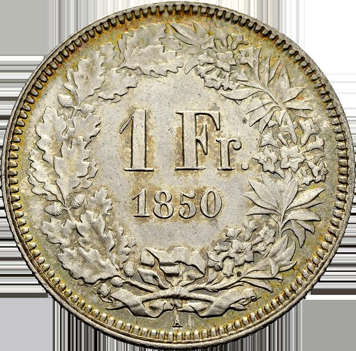 1 Franken von 1850