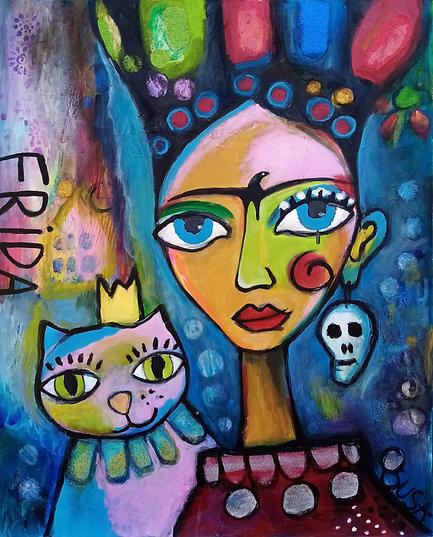Wild Frida | Mixed-Media auf Leinwand | 100 x 80 cm