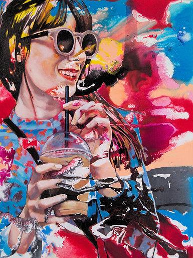 Coffee poppy |  Acryl auf Leinwand | 80 x 60 cm