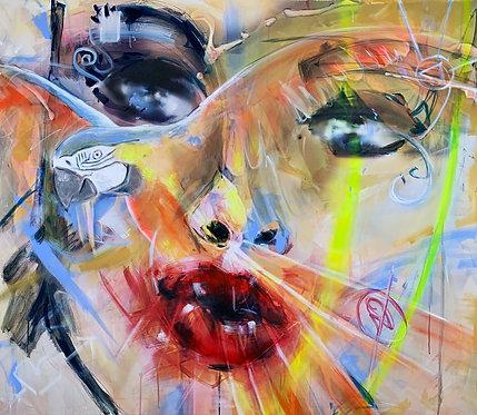 Welcome To Paradise II | Mischtechnik auf Leinwand | 100 x 115 cm