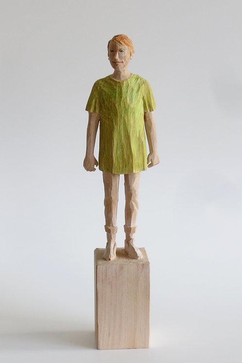 M02 |  Pinienholz, Buntstift | 23,3 cm x 6 cm x 4 cm