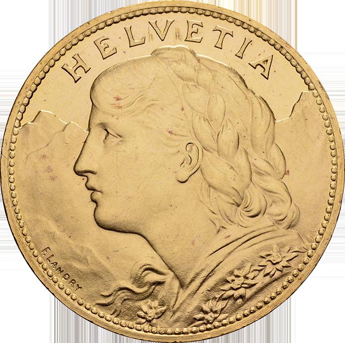 100 Franken Gold 1925