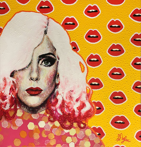Gaga & Little monsters | Acrylic Paint on Wooden Canvas | 60 x 60 cm