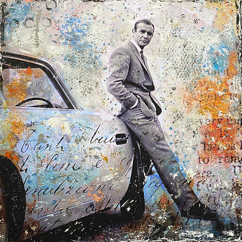 My Name is Bond |  Pop-Art-Acryl-Mischtechnik auf Leinwand | 90 x 90 cm