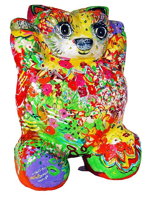Kitty Cat Lovable | massiv, Polyurethan, Fiberglas | 90 x 58 x 130 cm