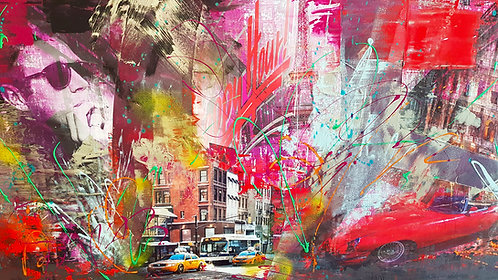 Happy hour in NY | Mischtechnik auf Leinwand | 80 x 100 cm