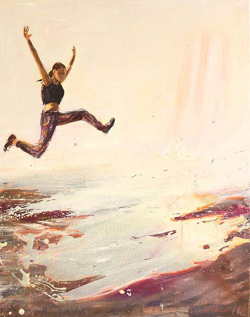 Abgründe überspringen |  Öl auf Leinwand | 90 x 70cm