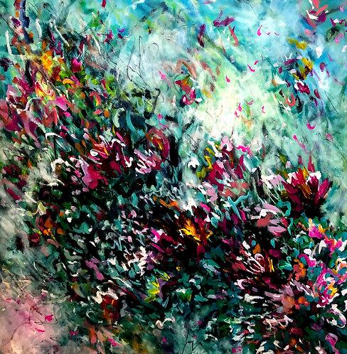 Always on my mind | Acryl, Öl, Graphit auf Leinwand | 120 x 120 cm