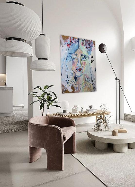 Was die Seele berührt   Acryl auf Leinwand/Digitale Bearbeitung   140 x 120 cm