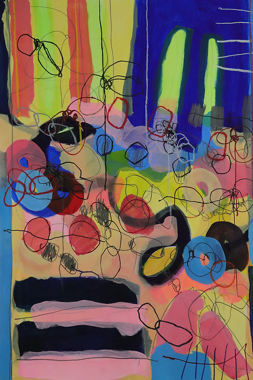 3   mixed media (acrylic, crayon, pencil, oil paint) on paper   110 x 75 cm