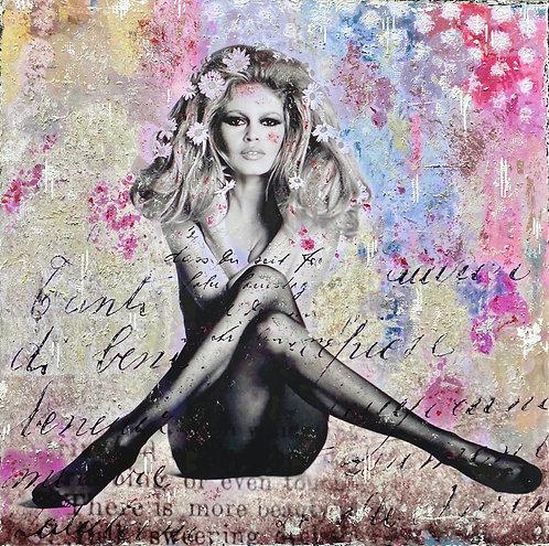 Beautiful BB |  Pop-Art-Acryl-Mischtechnik auf Leinwand | 110 x 110 cm