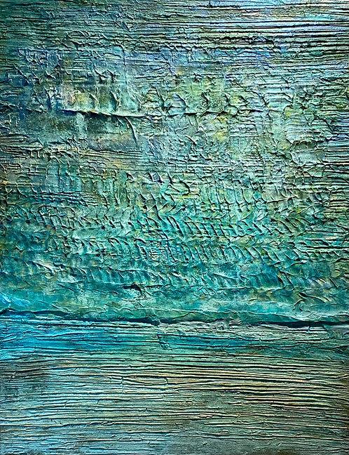 Meerblick | Mischtechnik auf Leinwand | 100 x 80 cm