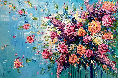 Unendliche Freude | Acryl, Gesso und Graphit auf Leinwand | 80 x 120 cm