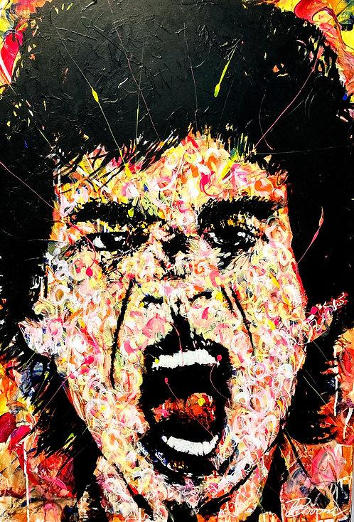 Bowie | Acryl, Gesso, Farbstift, Graphit auf Leinwand | 80 x 100 cm