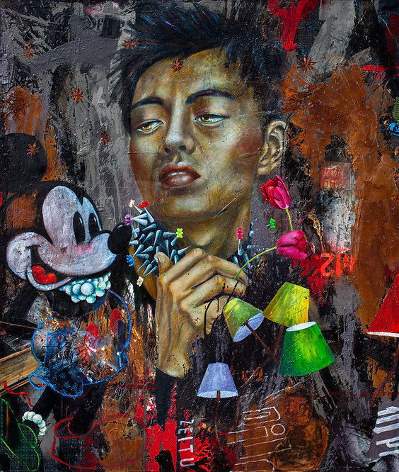 don't follow | Pigment, Öl, Mischtechnik auf Leinwand | 160 x 160 cm