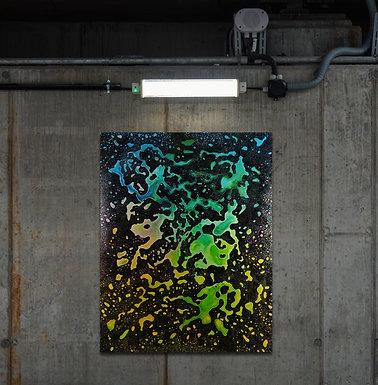 "Lavalmp | ""electronic music painting"" auf Leinwand | 80 x 100 cm"
