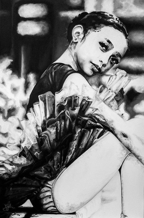 Jessy's portrait as ballerina | Öl auf Leinwand | 90 x 60 cm