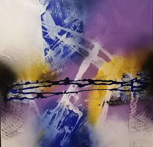 Sense diversity   Acryl, mixed media on canvas   80 x 80 cm