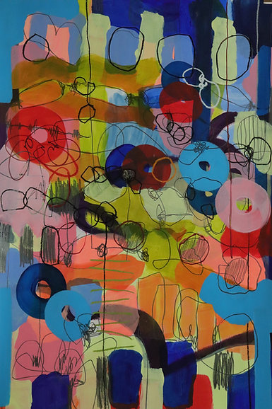 2 | mixed media (acrylic, crayon, pencil, oil paint) on paper | 110 x 75 cm