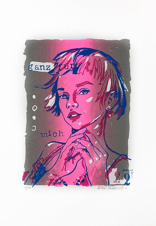 Ganz für mich I | Limitierter Siebdruck | 55 x 36 cm