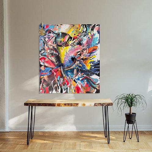 Sugar Glasses |  Acryl auf Leinwand | 130 x 115 cm
