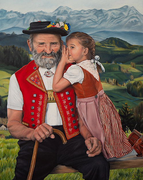 The Secret | Öl auf Leinwand | 97 x 77 cm