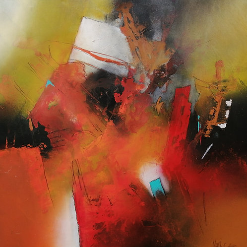 Light white | Acryl, mixed media on canvas | 80 x 80 cm