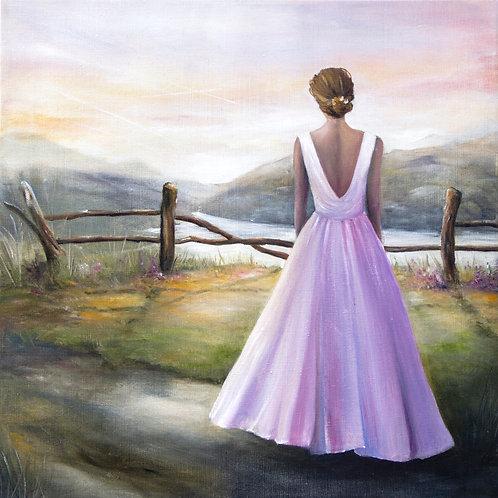 Summer evening   Oil Painting   60 x 60 cm