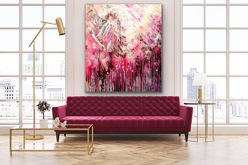 Dreaming My Life |  Acryl, Farbstift auf Leinwand | 160 x 140 cm
