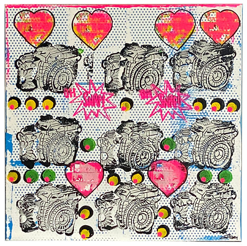 Polka Dots Love | Acrylic on canvas | 80 x 80 cm