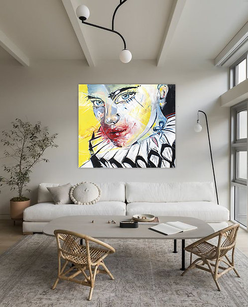 Emotions Have No Mask | Acryl auf Leinwand/Digitale Bearbeitung | 140 x 120 cm